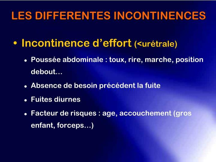 Incontinence d'effort