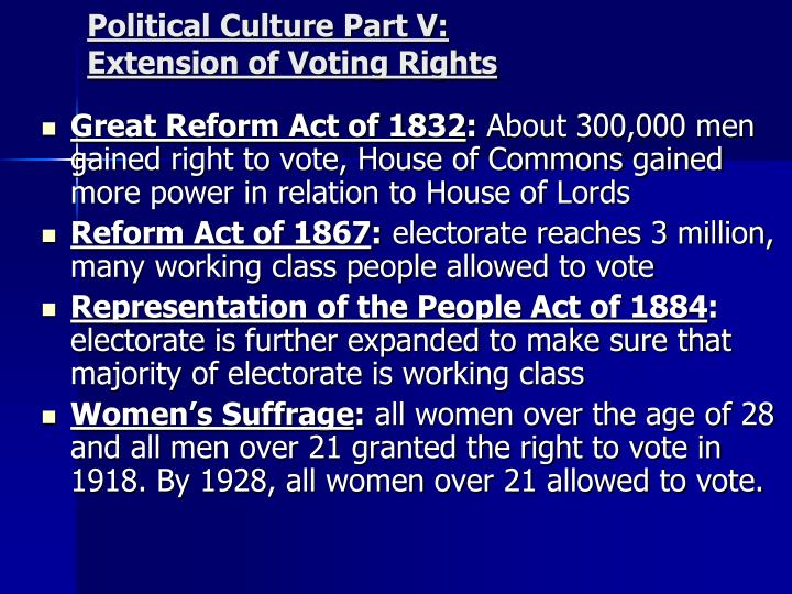 Political Culture Part V: