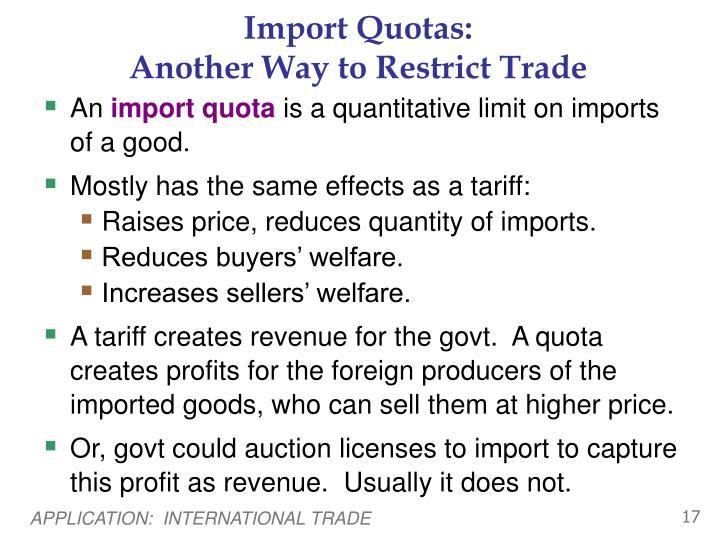 Import Quotas: