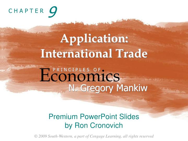 Application international trade