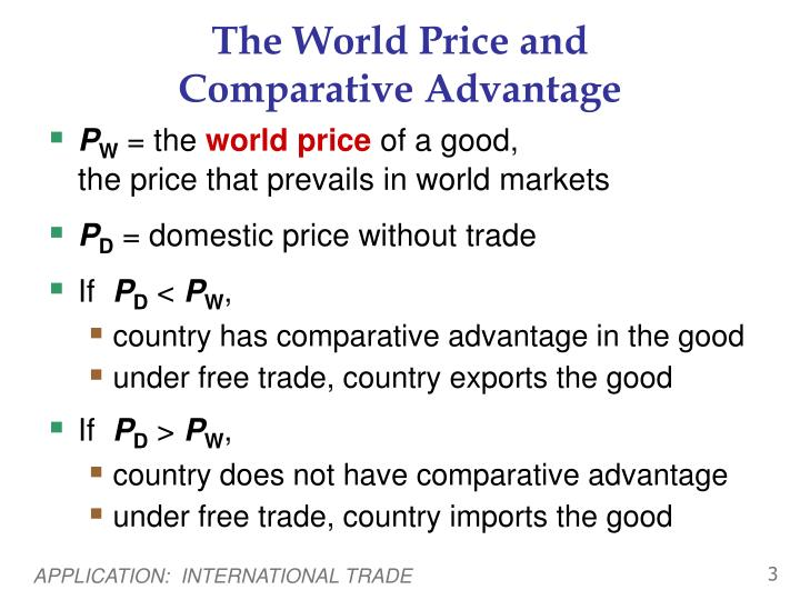 The World Price and