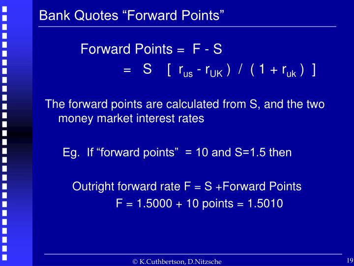 "Bank Quotes ""Forward Points"""
