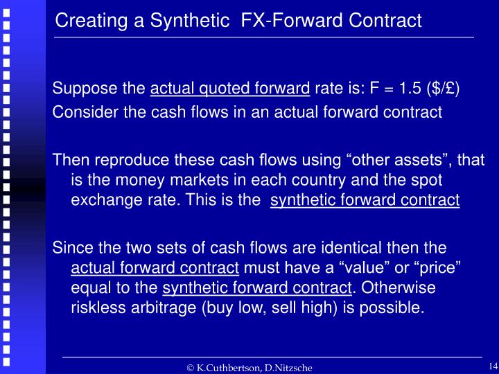 Creating a Synthetic  FX-Forward Contract
