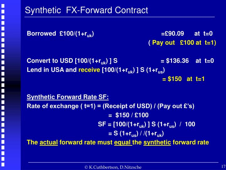 Synthetic  FX-Forward Contract