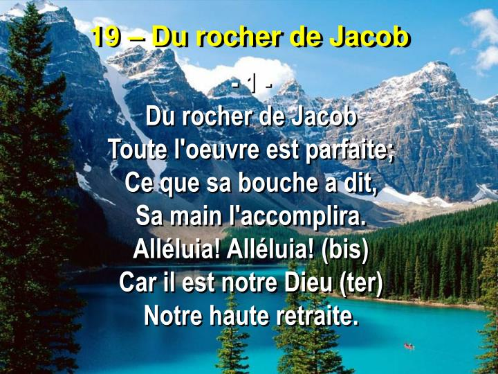 19 du rocher de jacob
