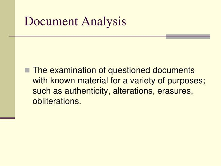 Document analysis2