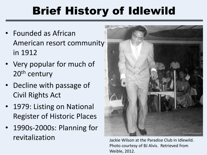 Brief History of Idlewild