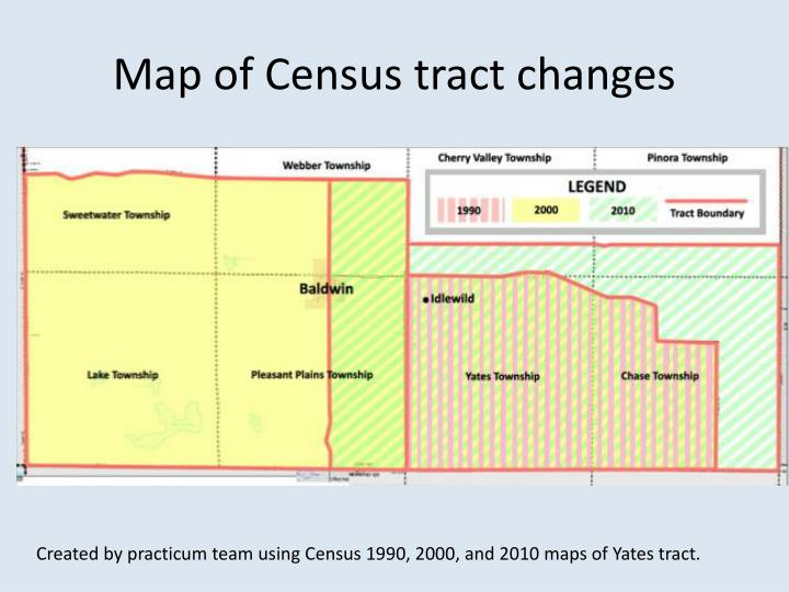 Map of Census tract changes