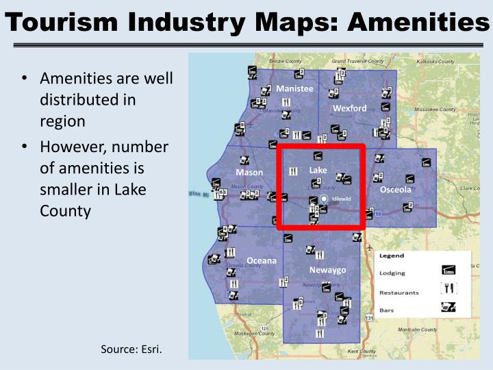 Tourism Industry Maps: Amenities