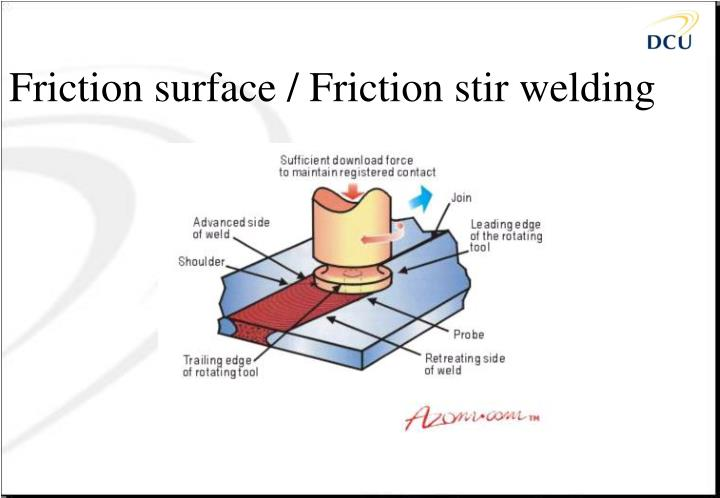 Friction surface / Friction stir welding