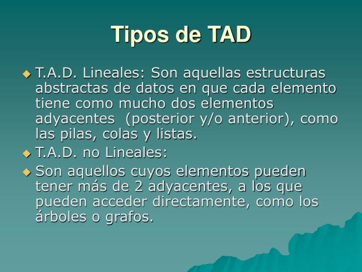 Tipos de TAD