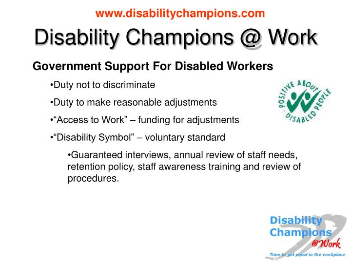 Disability champions @ work2