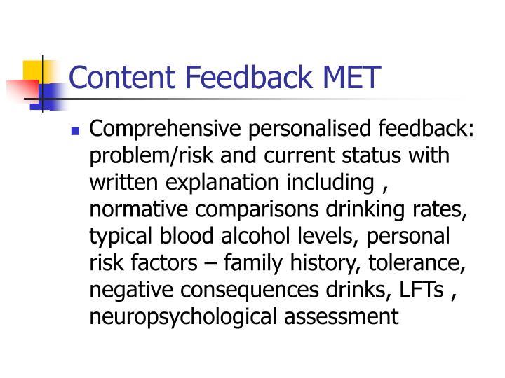 Content Feedback MET