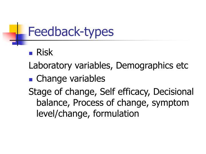Feedback-types