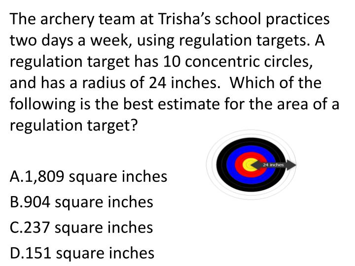 The archery team at Trisha