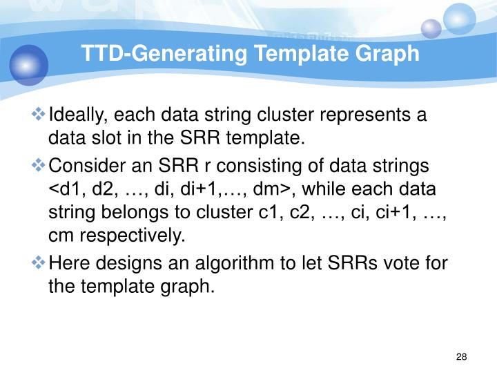 TTD-Generating Template Graph