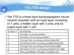 ttd ttd design