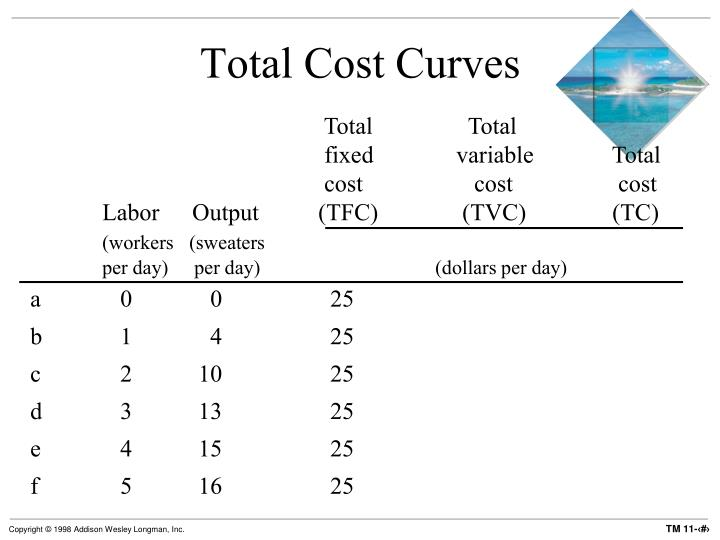Total Cost Curves