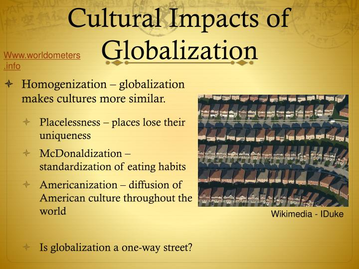 does globalization necessarily lead to cultural homogenization essay