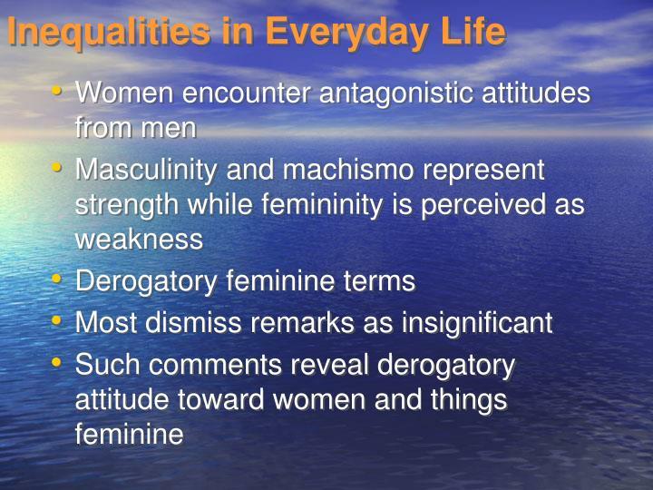 Inequalities in Everyday Life