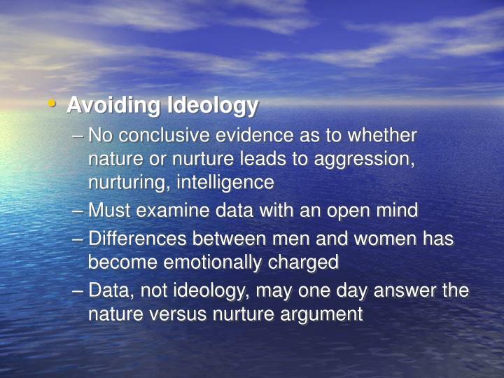 Avoiding Ideology