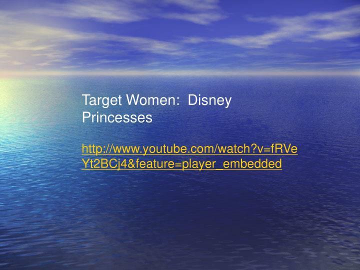 Target Women:  Disney Princesses