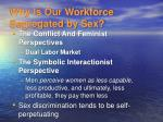 why is our workforce segregated by sex