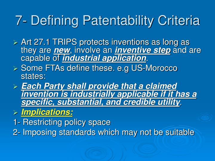 7- Defining Patentability Criteria