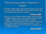 restricting parallel importation impact