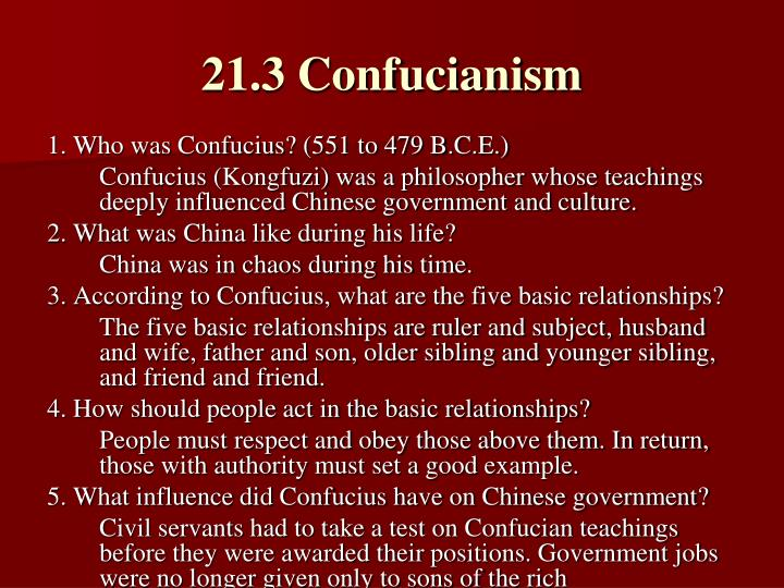 21.3 Confucianism