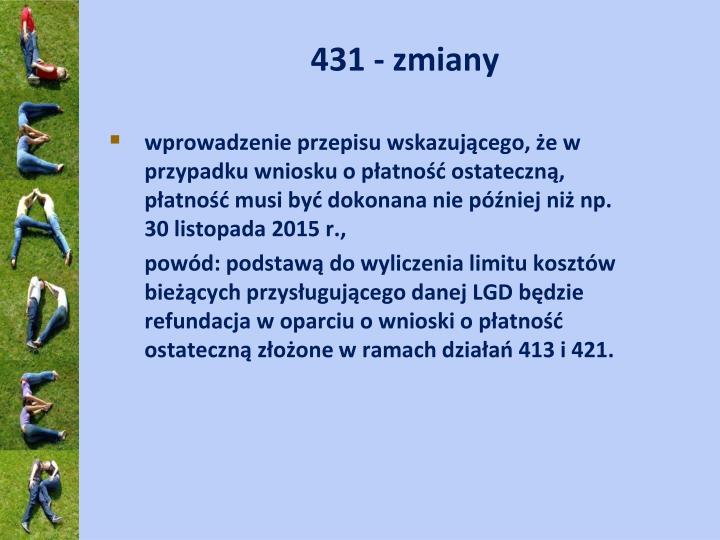 431 - zmiany