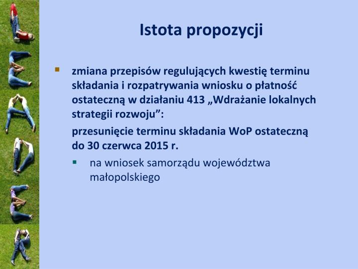 Istota propozycji