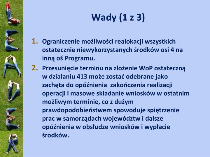 Wady (1 z 3)