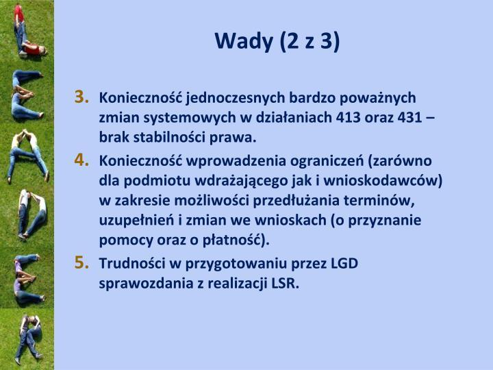 Wady (2 z 3)