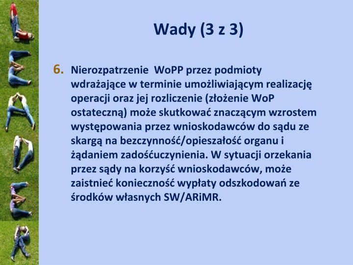 Wady (3 z 3)