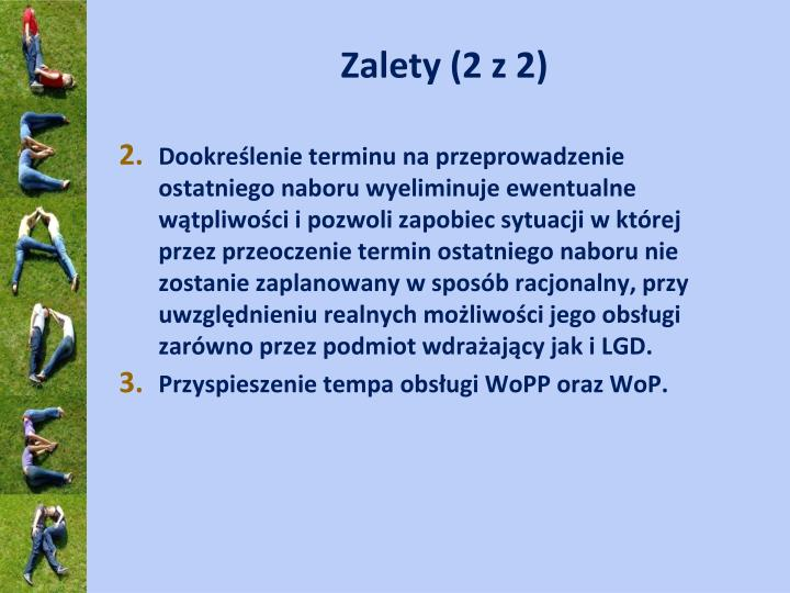 Zalety (2 z 2)