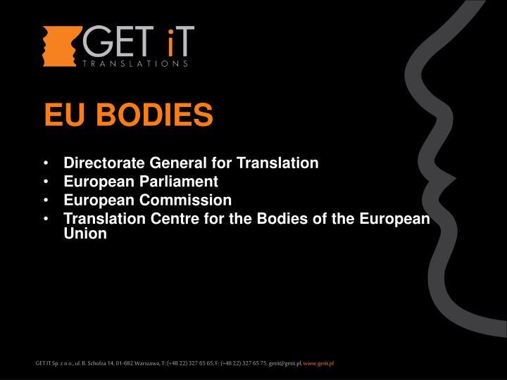 EU BODIES