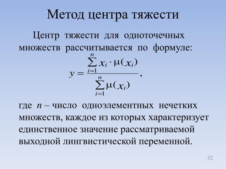 Метод центра тяжести