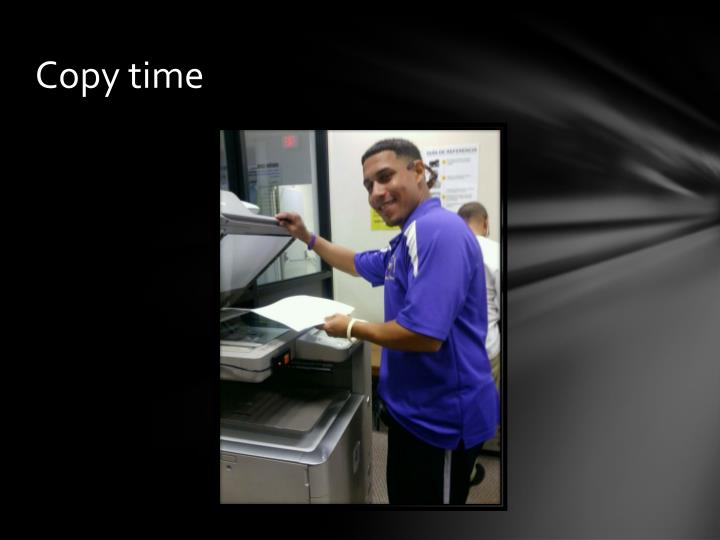 Copy time
