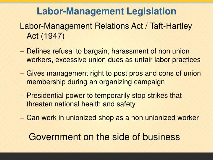 Labor-Management Legislation