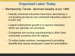 organized labor today1