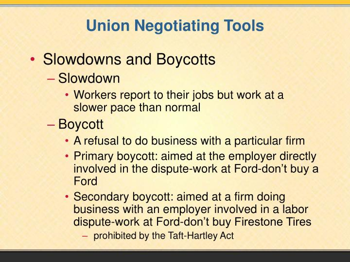 Union Negotiating Tools