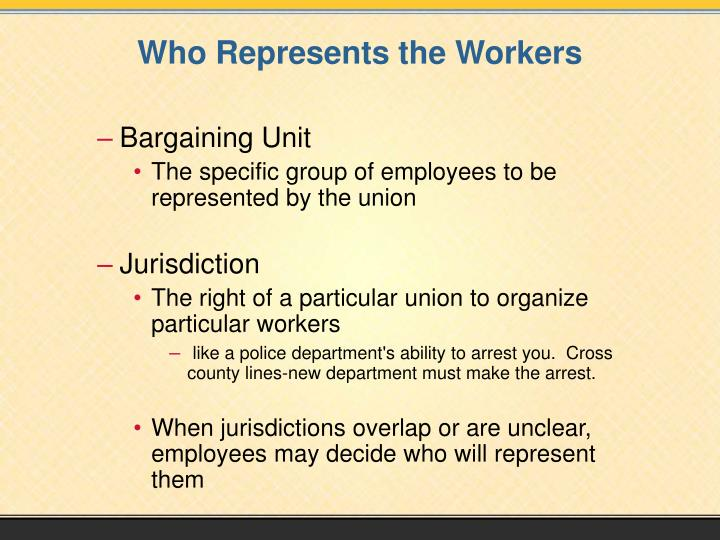 Who Represents the Workers