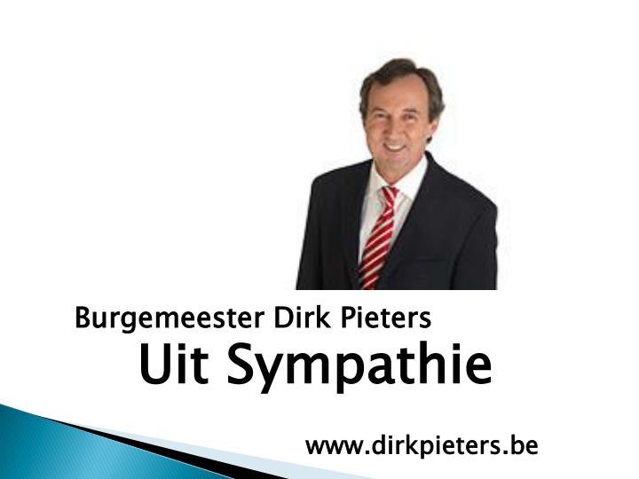 Burgemeester Dirk Pieters