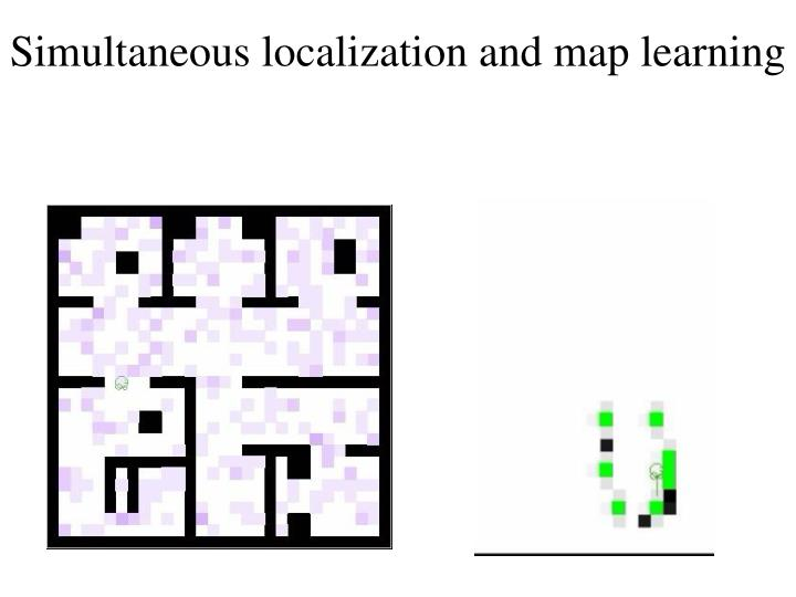 Simultaneous localization and map learning