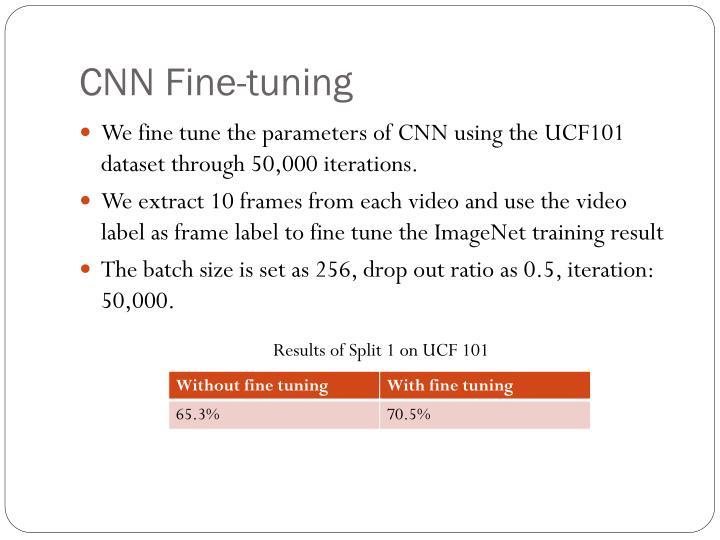 CNN Fine-tuning