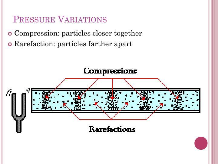 Pressure Variations