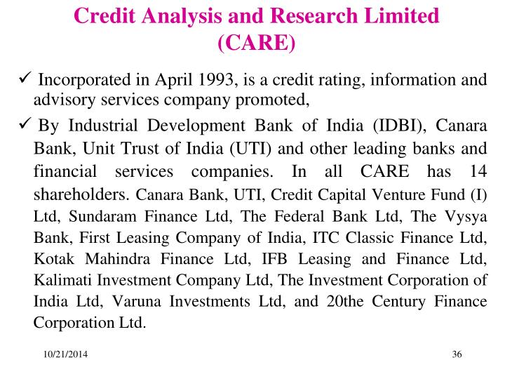 Credit Analysis and Research Limited (CARE)