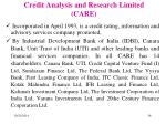 credit analysis and research limited care