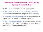 investment information and credit rating agency of india icra